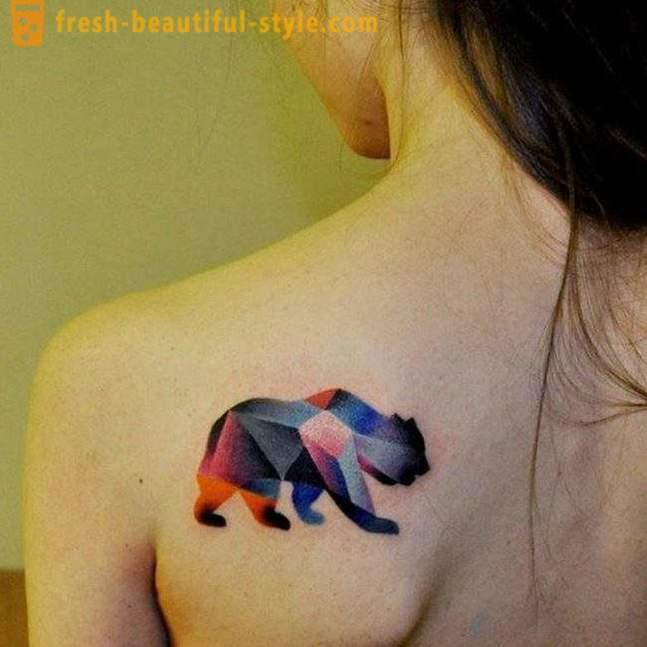 Pomen Tattoo Nosi Moški ženske Na Območju